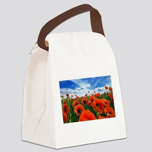 Poppy Flowers Field Canvas Lunch Bag